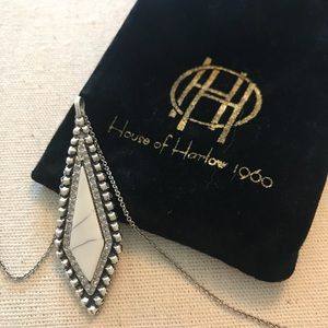 House of Harlow 1960 marble howlite necklace new